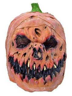 Mens #scary pumpkin mask jack lantern evil latex #halloween fancy #dress horror n,  View more on the LINK: 	http://www.zeppy.io/product/gb/2/361412003189/