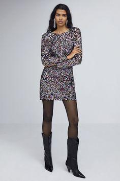 e71a8850ae7d Langärmliges Paillettenkleid mit Rückenausschnitt Sequin Dress