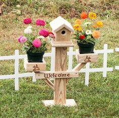 Mini Birdhouse Planter