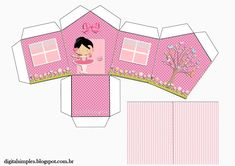 "Custom Theme Kit ""Ballerina Rose"" for Print - Simple Digital Invitations Box Templates Printable Free, Baby Mobile Felt, Paw Patrol Toys, Ballerina Birthday, Baby Box, Paper Artwork, Ideas Para Fiestas, Kids Boxing, Digital Invitations"