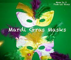 mardi gras mask craft for kids