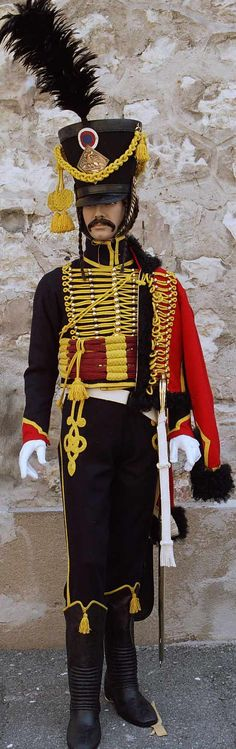 Hussard de Troupe. The most dashing thing a man can ever wear in my opinion. Chat Botte does the finest Napoleonic uniforms in the world.