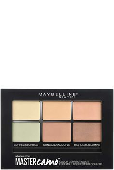 Facestudio Master Camo Color Correcting Makeup Kit by Maybelline. Correct skin tone, conceal dark circles and imperfections, and highlight facial features.