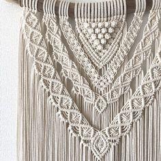 大きめ流木マクラメ編みタペストリー