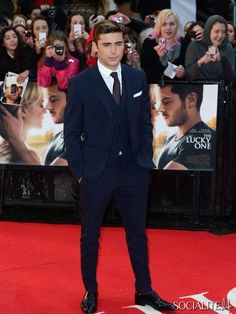 Zac Efron at the European premiere of 'The Lucky One'