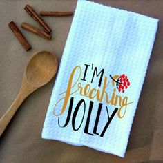 I'm Freaking Jolly Microfiber Waffle Weave Kitchen Towels Drying Cloth 16inch X 24inch White