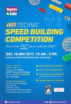 Ikutan yuk serunya bertanding adu kecepatan dalam lomba LEGO technic Speed Building Competition Jakarta 2017 bersama Bricks 4 Kidz! Anak harus membuat LEGO dengan mengikuti instruksi yang diberikan da Lomba LEGO Speed Building Competition 2017
