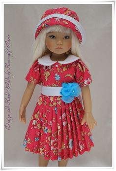 "[Effner] One piece dress & hat | 13"" Little Darling Outfit by Heavenly Marie #DiannaEffner BIN $59.99"