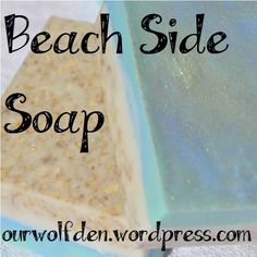 I love the look and feel of this soap. The base is a Shea Butter Soap with oatmeal added for a gentle exfoliant. The top layer is a Goat's Milk Soap. Both are scented with Brambleberry's Beach B...