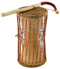 """Overseas Connection African Talking Drum, 11"""" x 5"""" by Overseas Connection. $33.75. The Talking drum, or """"dondo"""" as it is called in Ghana, is one of the most unusual African instruments. You squeeze it under your arm as you strike it with your other hand using a curved beater (supplied), thereby creating an infinite range of tones. Really good musicians can mimic the tones of language and actually """"talk"""" through the drum. These talking drums are designed with stronger raw..."""