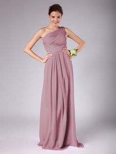 Lovely Chiffon Bridesmaid Dress Dusty Rose Wedding colors