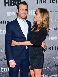 jennifer aniston & brad pitt   gorgeous couple - and we can't wait for Justin Theroux's new series ...