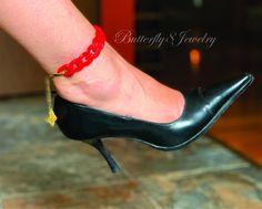 Anklet Bracelet, Anklets, Bracelets, Bohemian Jewelry, Unique Jewelry, Bohemian Beach Wedding, Butterfly Wedding, Red Lipsticks, Red Gold