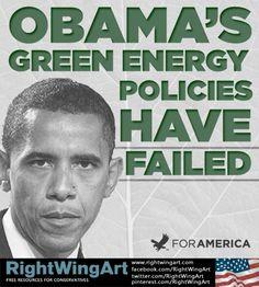 Obama Green Policy Fail