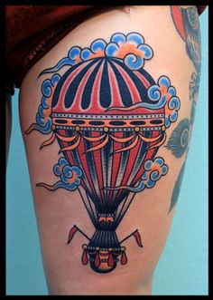 hot air balloon tattoo - Buscar con Google