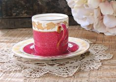Vintage Wedgwood Whitehall Ruby Gold by RosebudsOriginals on Etsy