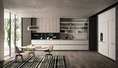 Modern Kitchen Interior Remodeling Effeti kitchen 2018 on Behance - Modern Kitchen Interiors, Contemporary Kitchen Design, Kitchen Cabinet Design, Interior Design Kitchen, Interior Modern, Interior Architecture, Küchen Design, Home Design, Luxury Kitchens