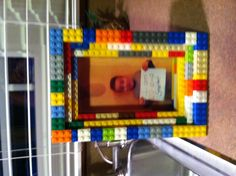 Lego frame for 100 days of school! Cute