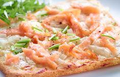Flammekueche au saumon WW, recette d'une délicieuse flammekueche légère, à base pâte fine, facile et simple à réaliser pour un repas léger.