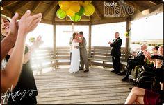 Outer Banks Weddings, OBX Weddings, Beach Wedding, OBX Wedding Photography, Outer Banks Wedding, ceremony under gazebo at The Sanderling
