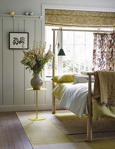 Yellow is a wonderful colour for the bedroom, making the start of every day feel like a sunny one | Homes & Gardens | http://www.hglivingbeautifully.com/2016/06/09/three-ideas-for-the-perfect-summer-bedroom/