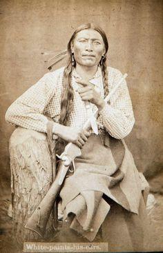 Portrait of Cheyenne man, White Paints His Ear
