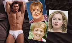 David Gandy smoulders in the latest Marks and Spencer ad campaign. But Jenni Murray, Claudia Connell and Anna Diamond aren't sure it's all good publicity.