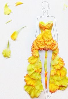 This Artist Uses Flower Petals to Create Extraordinary Fashion Designs - theFashionSpot