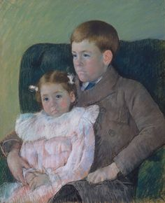 Mary Cassatt (American, 1844 – 1926): Gardner and Ellen Mary Cassatt (1899) (via The Metropolitan Museum of Art)