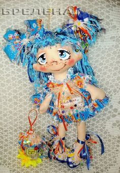 Текстильная кукла Домовушка Незабудка