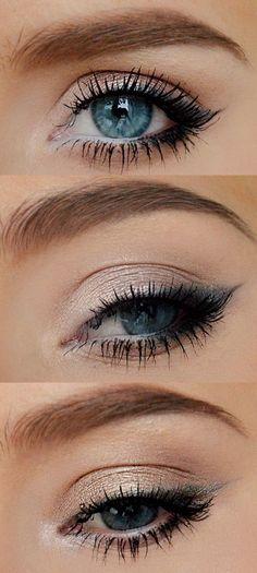 Simplified smoky eye