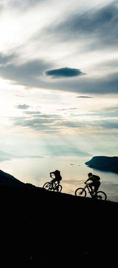 Epic cycle: Janne Tjärnström and Johan Jonsson in Norway.  http://win.gs/1lPse9X Image: Mattias Fredriksson #bike #norway #cycle