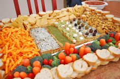 Football party dip tray