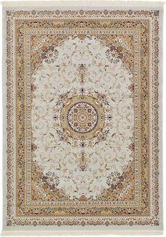 Ivory Isfahan Design Area Rug
