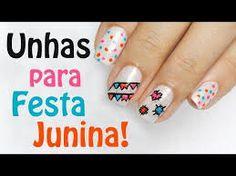 Resultado de imagem para unhas decoradas festa junina