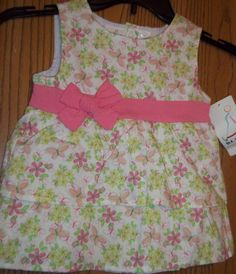 B.T. Kids Girls Size 3T Pink Flowered Top New With Tags #BTKids