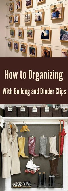 ✅20. Combine with bulldog clips on hooks you'll get this fancy organizing idea