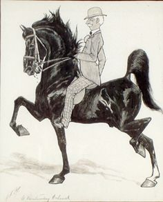 """""""A KENTUCKY COLONEL"""" by George Ford Morris   American Saddlebred Museum 2011 Auction"""
