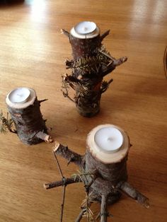 Bill's work-Christmas tree candlesticks
