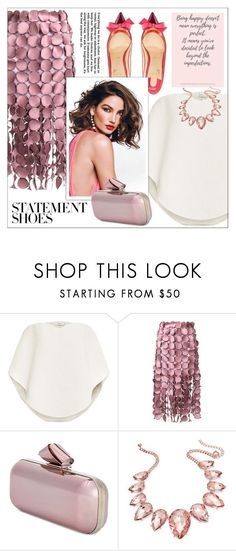 """""""#PolyPresents: Statement Shoes"""" by lookat ❤ liked on Polyvore featuring Delpozo, Loewe, Christian Louboutin, Jimmy Choo, Thalia Sodi, contestentry and polyPresents"""