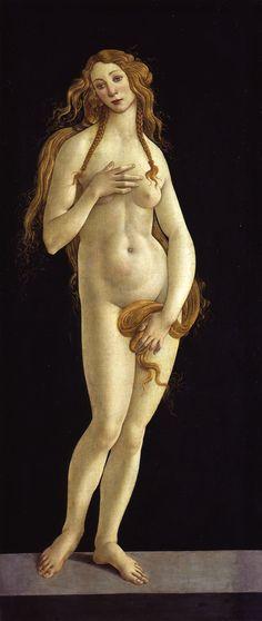 Sandro Botticelli, Venus, 1490. Staatliche Museen zu Berlin, Photo P. Anders. Preview Exhibition 2015:The Botticelli Renaissance,Gemäldegalerie, Berlin.