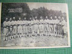 Vintage Black & White Postcard - Unused Unstamped - House of David Benton Harbor, Michigan, House of David Baseball Team Early Days by AVintageLifeByNikki on Etsy