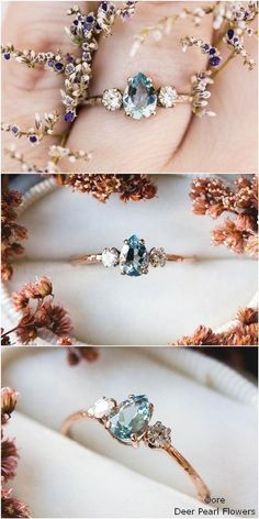 15 Alternative Engagement Rings from Etsy Aquamarine pear moissanite and gold twig engagement ring More from my site 14 Karat Roségold Marquise Diamanten Ehering Massiv 14 Karat Rose Unique Rings, Beautiful Rings, Pretty Rings, Wedding Engagement, Wedding Bands, Gold Wedding, Trendy Wedding, Flower Wedding Rings, Dress Wedding