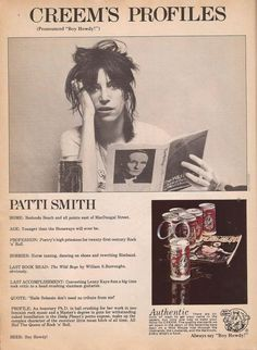 (Creem, December 1976) Patti Smith, Just Kids, Riot Grrrl, Film Books, Figure It Out, Just Kidding, Music Is Life, Rock N Roll, Album Covers
