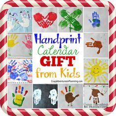 Handprint Calendar + 15 Homemade Gift Ideas Kids Can Make #HorizonHolidays