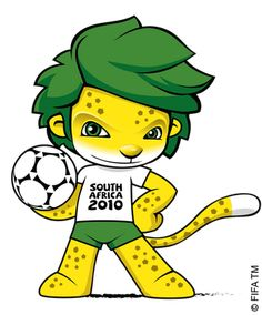 Zakumi the Leopard, the official mascot for the 2010 FIFA World Cup in South Africa. (Photo credit: Wikipedia ) Football is obviously do. World Cup 2014, Fifa World Cup, World Cup Logo, Time For Africa, Waka Waka, Mascot Design, Soccer World, Uefa Champions League, World Championship