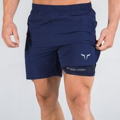 Muscle Kid Brother Fitness Summer New Style Quick-Dry Mesh Shorts Double Layer Light Board Customizable Logo Sports Shorts Mens Gym Shorts, Tennis Shorts, Sport Shorts, Casual Athletic Outfits, Gym Outfit Men, Loose Shorts, Logo Nasa, Color Negra, Mens Fashion