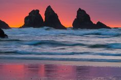Sea Stack Sunset by Lee Wiren