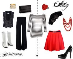"""""""Sophisticated versus Artsy"""" by beenchanted5597 ❤ liked on Polyvore"""