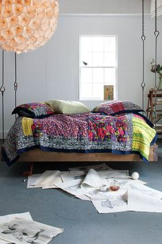 Barnwood Hanging Bed - Anthropologie.com  This would be nice for my house.